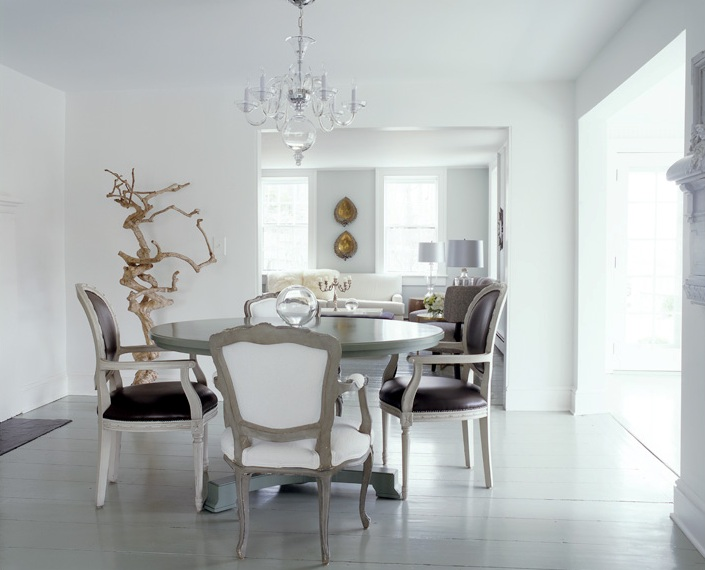 Rustic White Kitchen Table